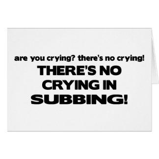 Ningún griterío en el Subbing Tarjeta De Felicitación