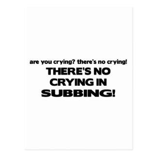 Ningún griterío en el Subbing Tarjetas Postales