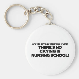 Ningún griterío en escuela de enfermería llavero redondo tipo pin