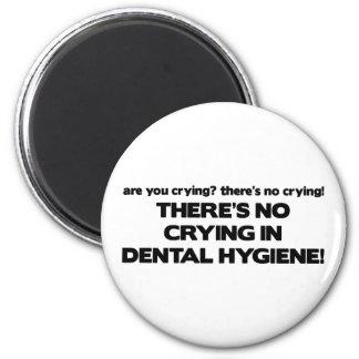 Ningún griterío en higiene dental imán redondo 5 cm