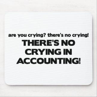 Ningún griterío en la contabilidad tapetes de ratón