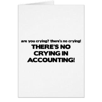 Ningún griterío en la contabilidad tarjeta