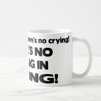 Ningún griterío en la hornada tazas de café