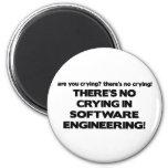Ningún griterío en la ingeniería de programas info imán redondo 5 cm