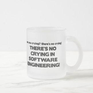 Ningún griterío en la ingeniería de programas taza de cristal