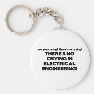 Ningún griterío en la ingeniería eléctrica llavero redondo tipo pin