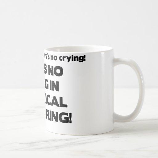 Ningún griterío en la ingeniería eléctrica taza de café