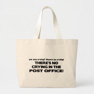 Ningún griterío en la oficina de correos bolsa tela grande