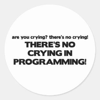 Ningún griterío en la programación pegatinas redondas