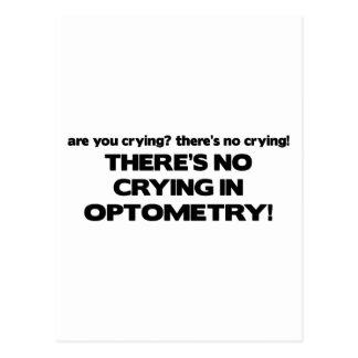 Ningún griterío en optometría tarjeta postal