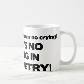 Ningún griterío en optometría taza de café