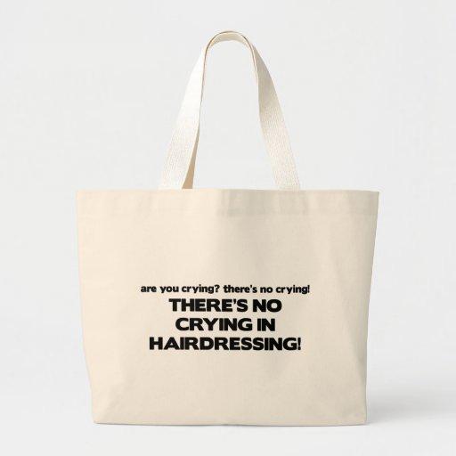 Ningún griterío en peluquería bolsa de tela grande
