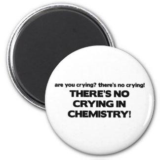 Ningún griterío en química imán redondo 5 cm