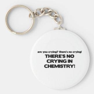 Ningún griterío en química llavero redondo tipo pin