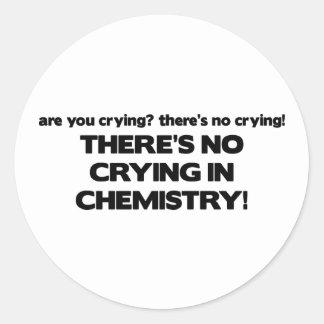 Ningún griterío en química pegatina redonda