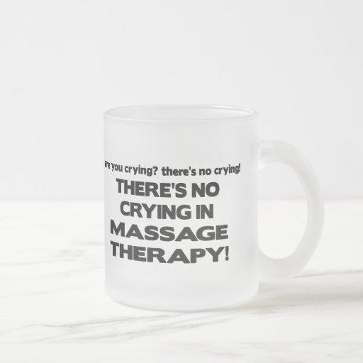 Ningún griterío en terapia del masaje tazas