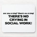 Ningún griterío en trabajo social tapete de ratón