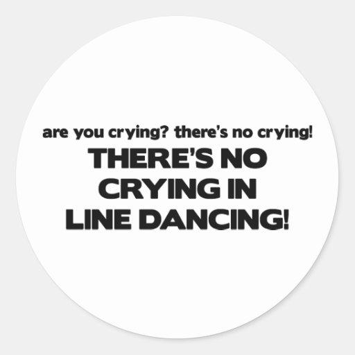 Ningún griterío - línea baile pegatina redonda