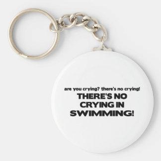 Ningún griterío - natación llavero redondo tipo pin