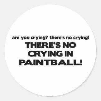 Ningún griterío - Paintball Pegatina Redonda