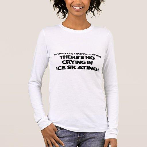 Ningún griterío - patinaje de hielo playera de manga larga