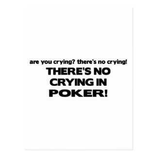 Ningún griterío - póker tarjetas postales