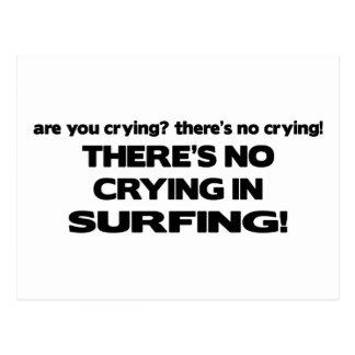 Ningún griterío - practicando surf tarjeta postal