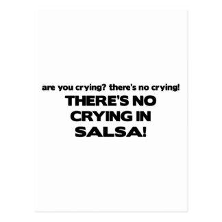Ningún griterío - salsa tarjetas postales