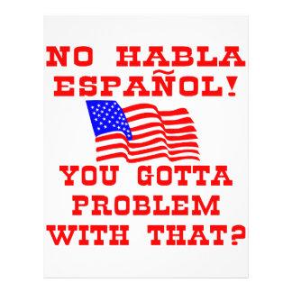¿Ningún Habla Espanol que usted consiguió al probl Tarjetón