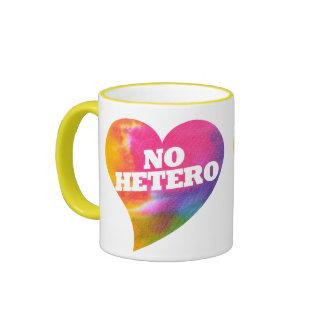 Ningún Hetero Taza De Dos Colores