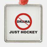 Ningún hockey del drama apenas ornamento de navidad