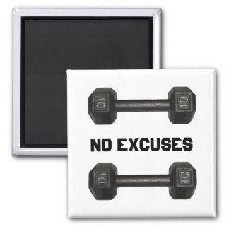 Ningún imán de la pesa de gimnasia de las excusas