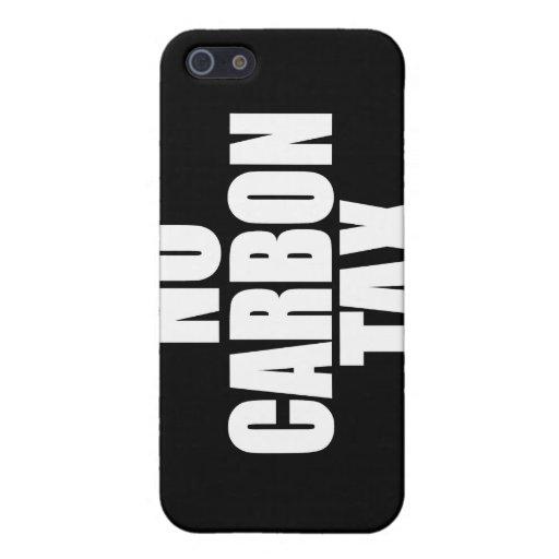 Ningún impuesto del carbono iPhone 5 carcasa