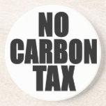 Ningún impuesto del carbono posavaso para bebida