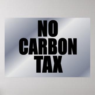 Ningún impuesto del carbono posters