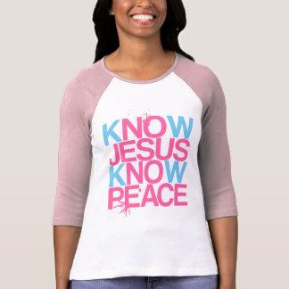 Ningún Jesús, ninguna paz. Conozca a Jesús, sepa Remeras