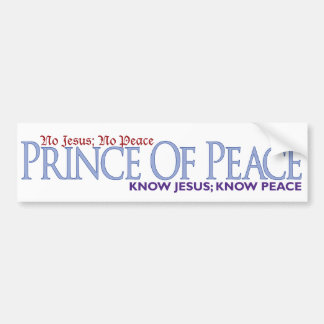 Ningún Jesús, ninguna paz Pegatina Para Auto