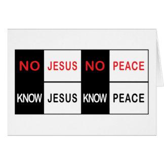 Ningún Jesús ninguna paz Tarjeta De Felicitación