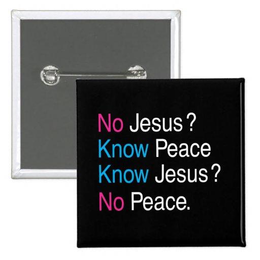 Ningún Jesús Pin Cuadrada 5 Cm