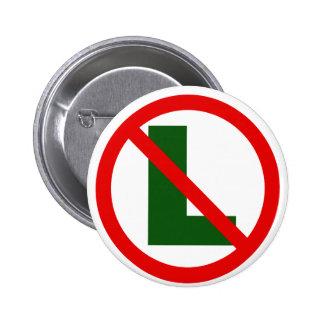 Ningún L botón Pin Redondo De 2 Pulgadas