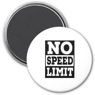 Ningún límite de velocidad imán redondo 7 cm