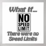 Ningún límite de velocidad posters