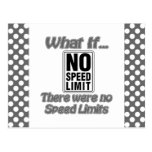 Ningún límite de velocidad tarjeta postal