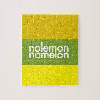 Ningún limón ningún melón rompecabeza con fotos