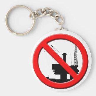 Ningún llavero de la perforación petrolífera en el