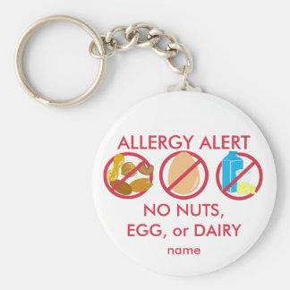 Ningún llavero Nuts de la alarma de la alergia del