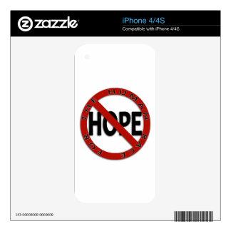Ningún logotipo de la muestra de la esperanza calcomanía para iPhone 4