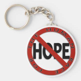 Ningún logotipo de la muestra de la esperanza llavero redondo tipo pin