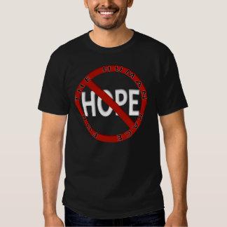 Ningún logotipo de la muestra de la esperanza playeras