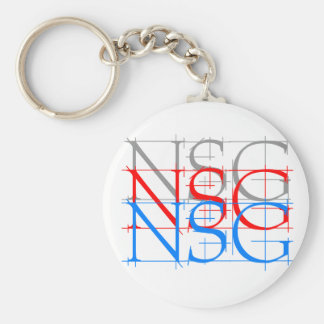 Ningún logotipo de los gráficos del sudor llavero redondo tipo pin